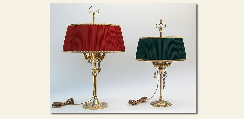 Floine Oil Brass Lamps Made In Italy, Antique Lamps Made In Italy