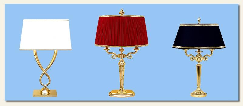 Grandi lampade in ottone Linea Lusso